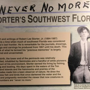 Never No More: Storter's Southwest Florida is now on display at Keys History & Discovery Center in Islamorada through early October.